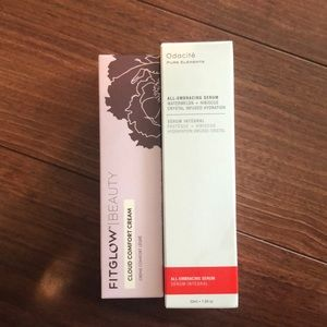 Fitglow beauty cloud comfort cream ,odacite serum